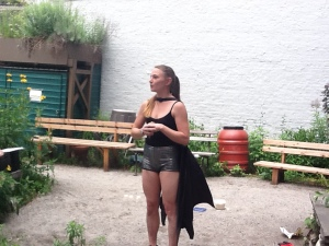 This is Kathleen Stansell performing an excerpt of A GOOD DAY 2 PIE in Brooklyn in June 2012