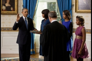 President Obama is sworn in for his second term. From whitehouse.gov.