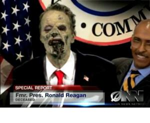 Per the Onion,  Republicans re-animate Ronald Reagan after two disastrous presidential campaigns.