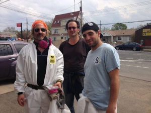 Goldi Guerra and Friends helping to muck out the many mold-damaged homes in Staten Island. from their Facebook Page.
