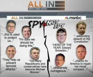 """The odd politics of support for the NSA's intelligence gathering/data mining program, from Chris Hayes' """"all In"""" program"""