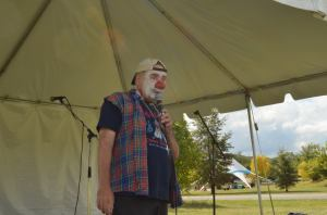 This is me performing my play at the Figment Festival. I don't usually use a microphone, I kinda felt like Jerry Springer.