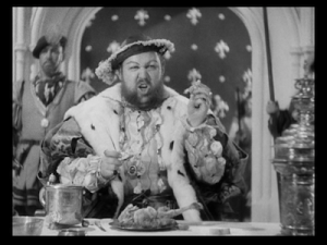 Charles Laughton as King Henry VIII--NOT a vegan.