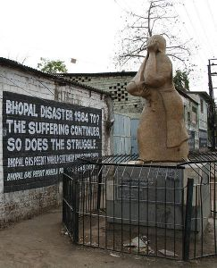 The memorial at Bhopal commemorating the thousands who died there (and the thousands still suffering). From Wikipedia