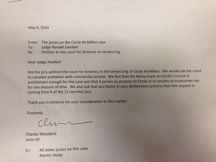 Letter Requesting Leniency In Sentencing