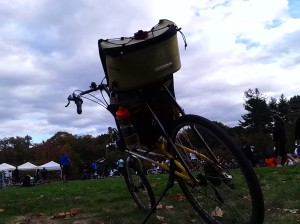My V-Rex, looking out over the New York Botanical Garden at the end of the Tour De Bronx on 10/26.
