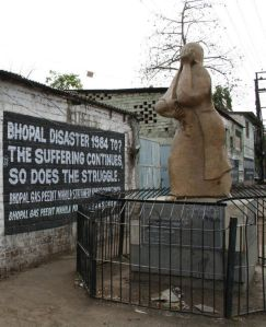Bhopal memorial commemorating the victims of the huge disaster from 1984.