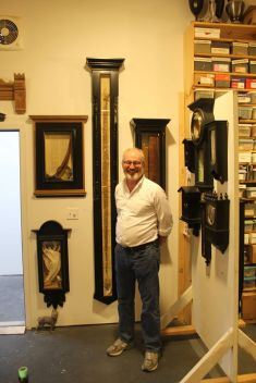 Brian Kenny and his artwork.