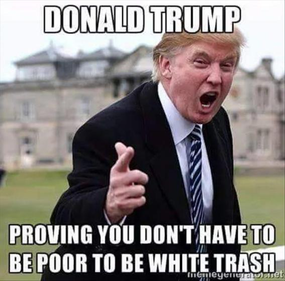 trump white trash