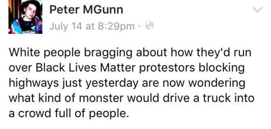 blm attack by car
