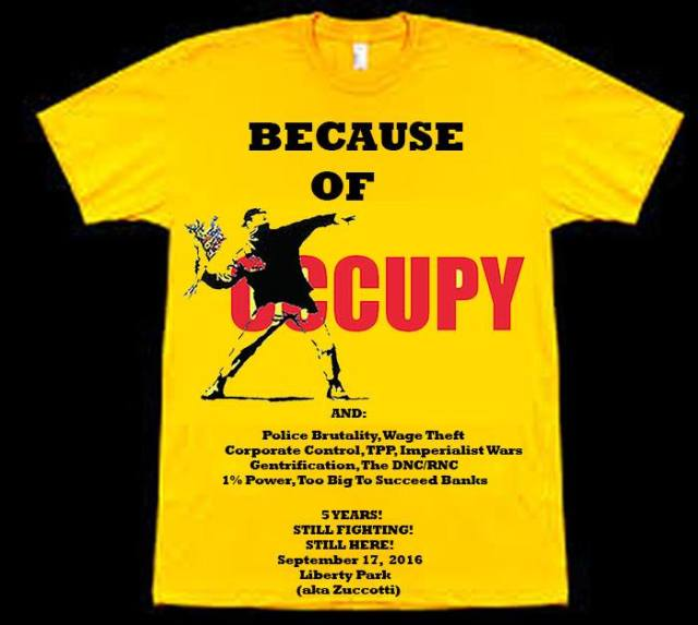 T-shirt occupy